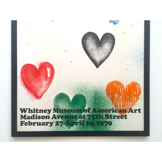 Contemporary Jim Dine Rare Vintage 1970 Framed Silkscreen Print Whitney Museum Collector's Pop Art Exhibition Poster For Sale - Image 3 of 13