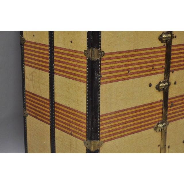 1930s Traditional Oshkosh the Chief Wardrobe Steamer Trunk For Sale In Philadelphia - Image 6 of 13