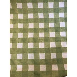 Robert Allen Soft Squares in Spring Grass Fabric - 7 Yards For Sale
