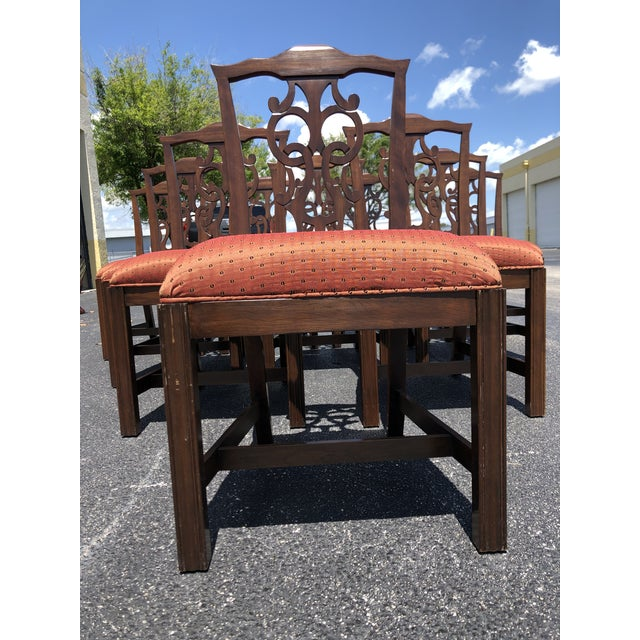 Chippendale Style Dining Chairs - Set of 10 For Sale - Image 11 of 13