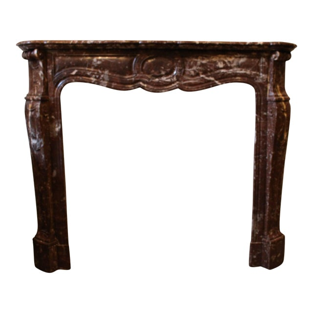 French Louis XV Style Marble Mantel For Sale