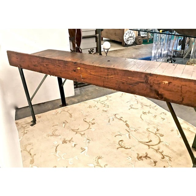 20th Century Industrial Workbench or Console For Sale - Image 10 of 12