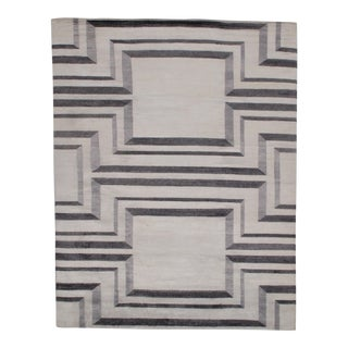 Pasargad N Y Modern Pure Bamboo Silk Hand Knotted Area Rug - 7′11″ × 10′3″ For Sale