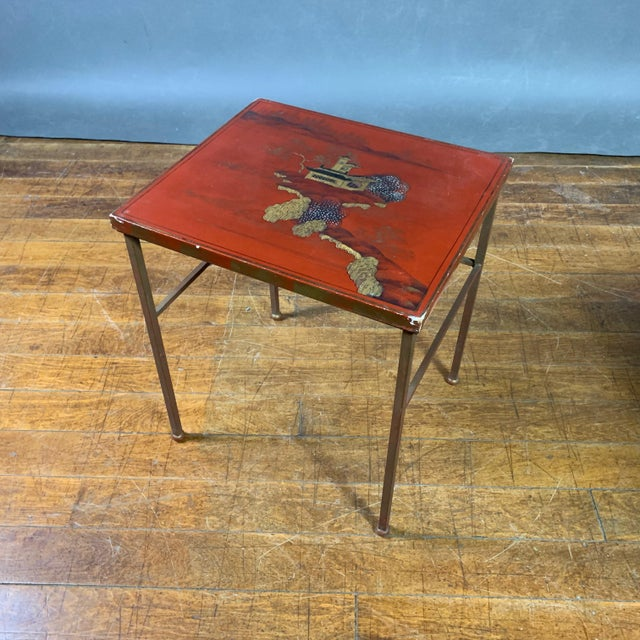 19th Century Chinese Red Lacquered Nesting Tables - Set of 3 For Sale - Image 9 of 13