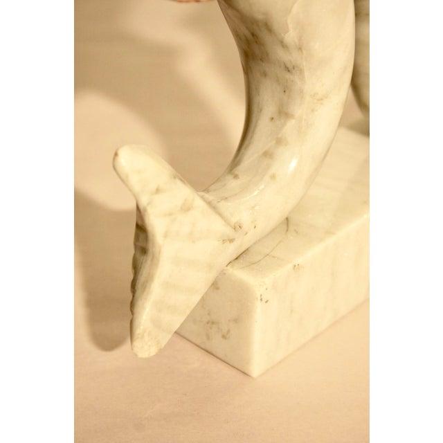 Surrealist Carved Marble Mermaid Sculpture - Image 6 of 7