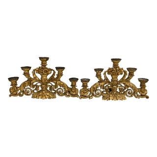 18th Century Louis XV Style Candelabras - a Pair For Sale