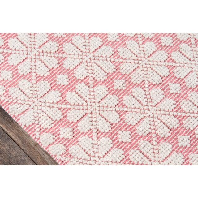 "Contemporary Madcap Cottage Lisbon Seville Pink Area Rug 3'6"" X 5'6"" For Sale - Image 3 of 8"