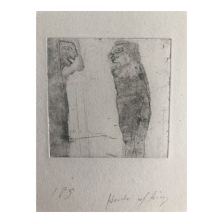 Abstract Figures Etching by Dellas Henke, C. 1979 For Sale
