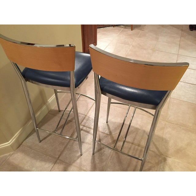 Loewenstein Modern Bar Stools - A Pair - Image 3 of 8