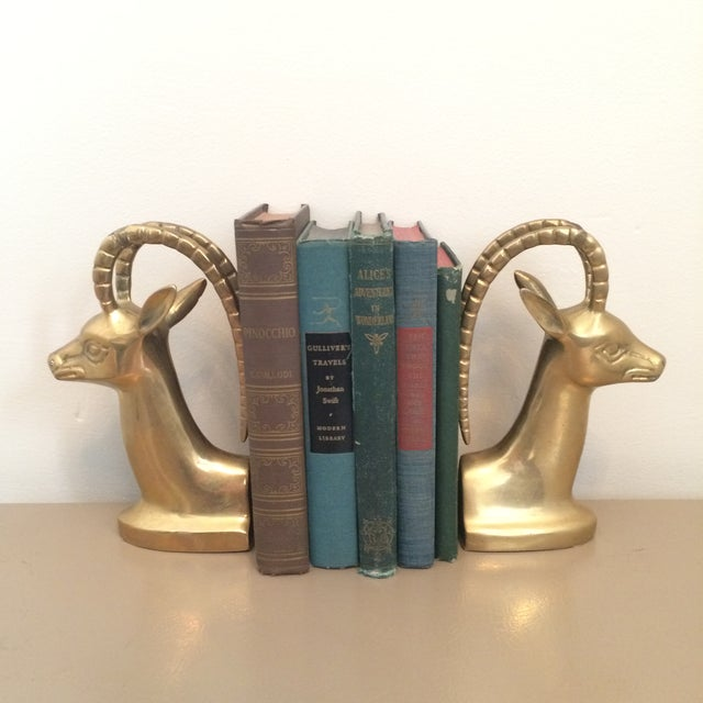 Brass Ibex Bookends - Image 5 of 8