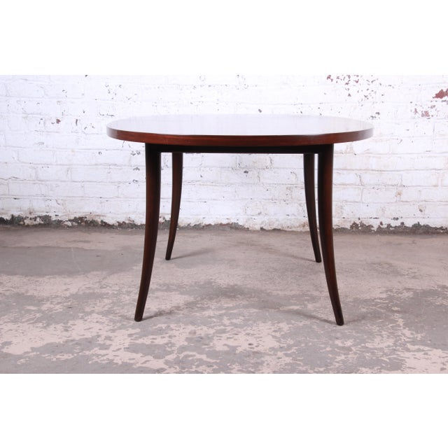 Harvey Probber Mid-Century Modern Saber Leg Rosewood Extension Dining Table, Newly Refinished For Sale - Image 12 of 13