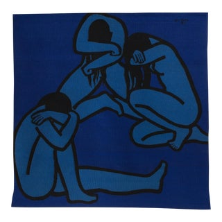 "Jan Yoors 1960's Hand-Woven ""Weeping Women IV"" tapestry For Sale"