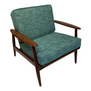 Mid-Century Modern Danish Solid Teak Lounge Chair For Sale
