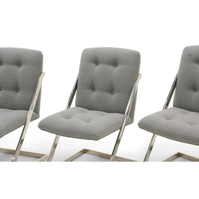 Set of Six Milo Baughman Dining Chairs, Two-Arm Chairs and Four Z Side Chairs - Image 3 of 11