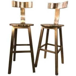Set of Six Deco Style Steel Bar Stool