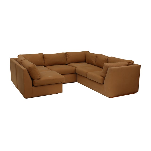 Cotton Modern 3-Piece Sectional Sofa For Sale - Image 7 of 10
