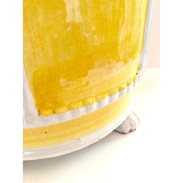 1960s Italian Glazed Terra Cotta Planter For Sale - Image 4 of 11
