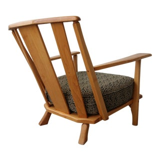 Early Mid Century Craftsman Style Lounge Chair For Sale