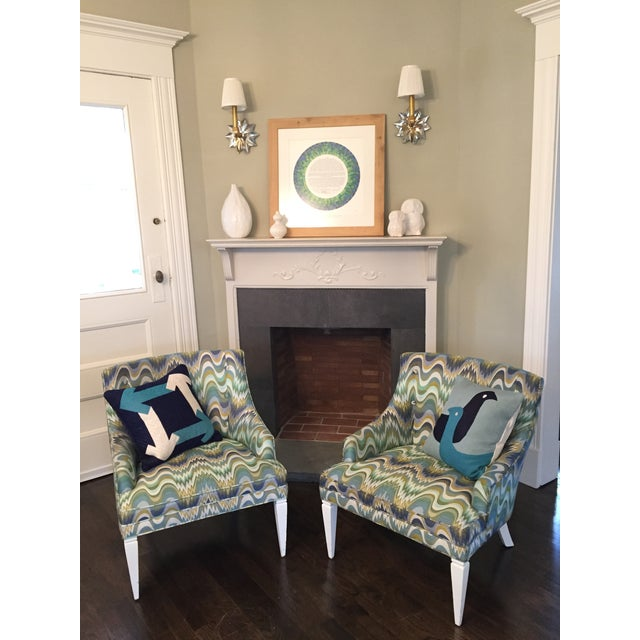 Jonathan Adler Haines Chairs - A Pair - Image 4 of 11