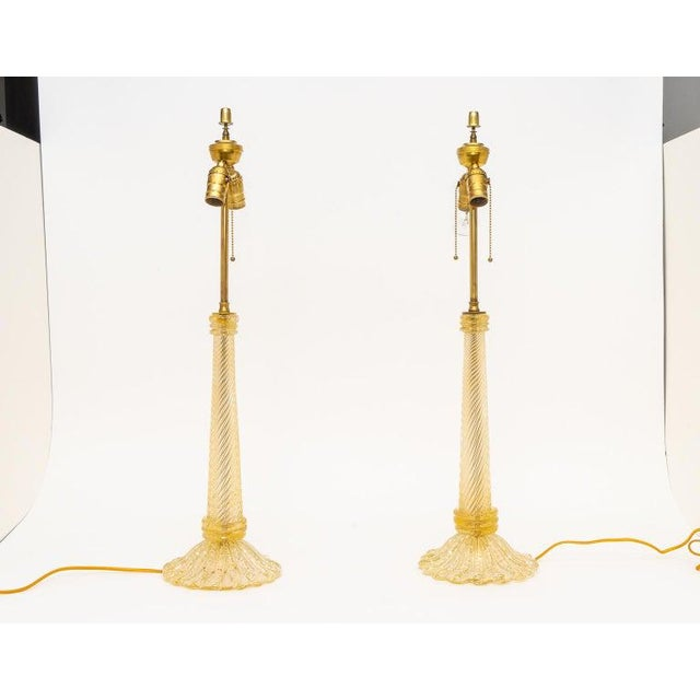 Barovier & Toso Barovier & Toso Table Lamps, Circa 1930s - a Pair For Sale - Image 4 of 11