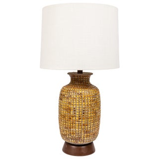 Midcentury Ceramic Lamp With Inset Tiles For Sale