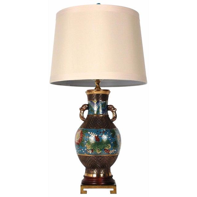Bronze Champlevé Lamp - Image 1 of 8