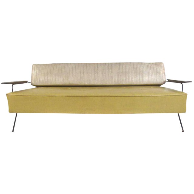 Richard McCarthy for Selrite Mid-Century Vinyl Daybed For Sale