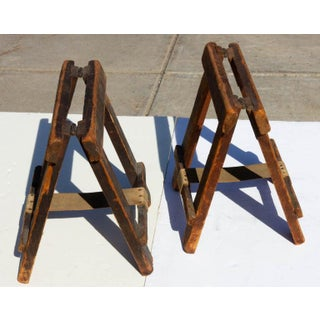 Industrial Table Top Folding Sawhorses - a Pair Preview