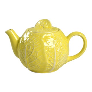 Secla Cabbage Yellow Teapot & Lid For Sale