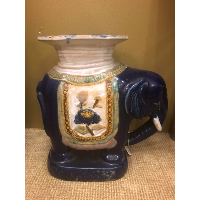 Vintage Chinese Elephant Garden Stool For Sale In Los Angeles - Image 6 of 9