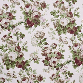 Schumacher x Vogue Living Nancy Wallpaper in Grisaille , Sample For Sale