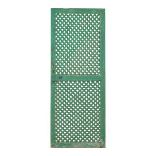 Antique Lattice Painted Screen Door For Sale