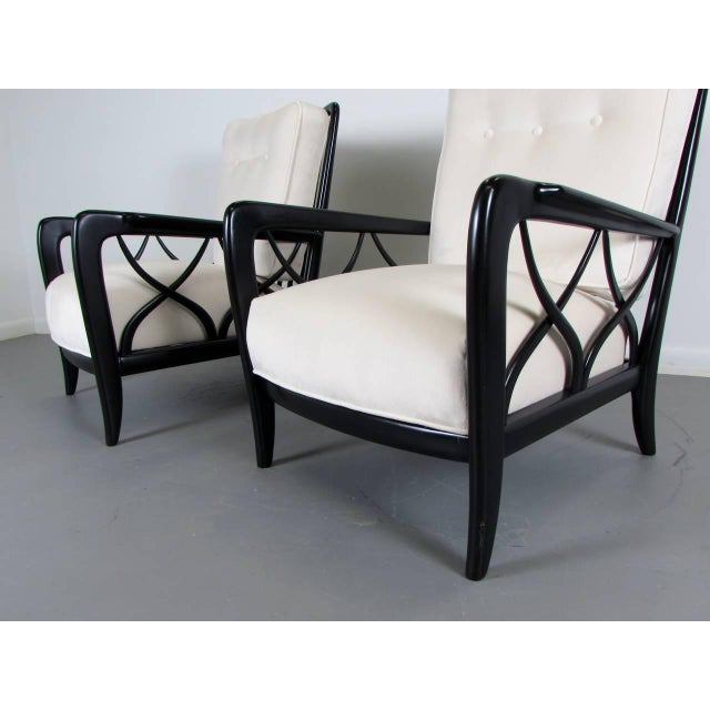 1950s Paolo Buffa Style Lacquered Italian Lounge Chairs - A Pair - Image 3 of 8