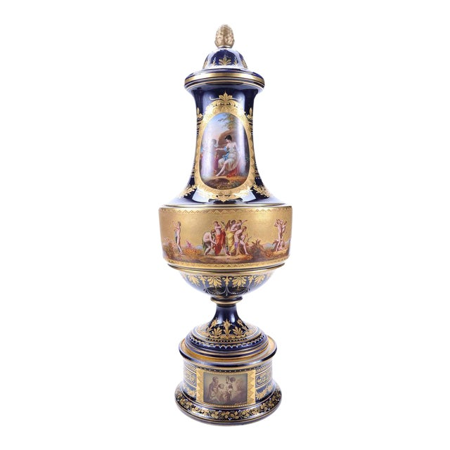 "19th C. Royal Vienna 22"" Museum Piece Urn For Sale"