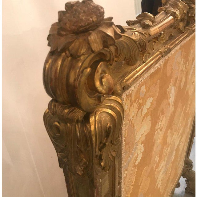 Louis XV Antique Louis XV Style French Fire Screen For Sale - Image 3 of 13