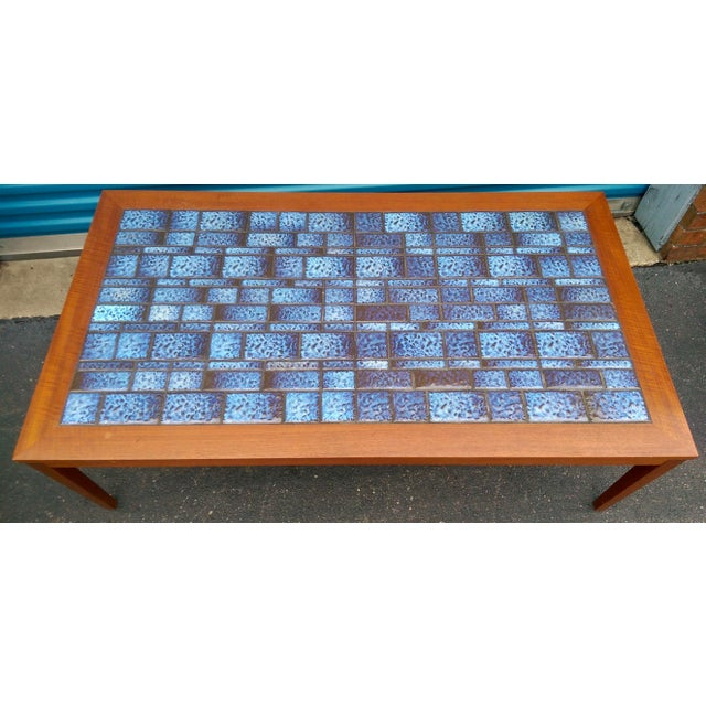 Blue Tiled Coffee Table - Image 5 of 7