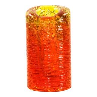 Jungle Contemporary Vase, Large, in Monochrome Orange resin by Jacopo Foggini For Sale