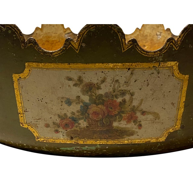"""Metal Louis XVI Tole Monteith """"Verriere"""" For Sale - Image 7 of 11"""