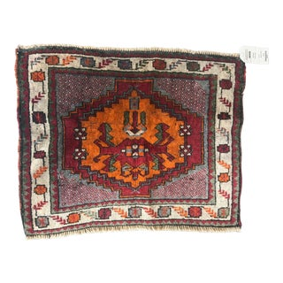 Early 20th Century Antique Petite Turkish Oushak Rug - 2′ × 2′6″ For Sale
