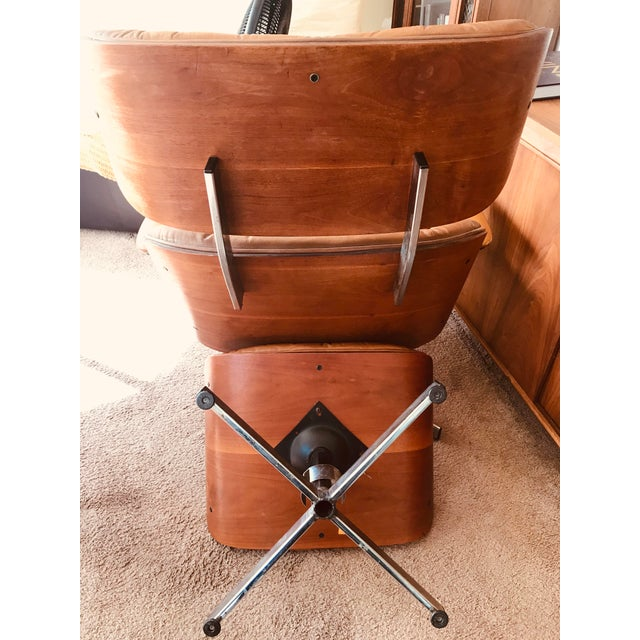 Metal 1975 Frank Doerner Mid-Century Modern Eames Style Chair For Sale - Image 7 of 10