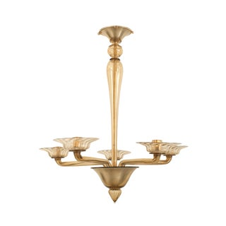 1940s Italian Venetian Murano Chandelier For Sale
