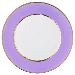 """Schubert"" Charger in Violet & Narrow Gold Rim For Sale"