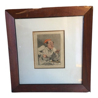 The French Cook, C. 1880 Framed Engraving For Sale