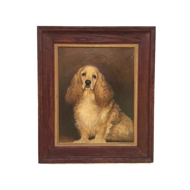 Vintage Mid-Century Cocker Spaniel Portrait Oil Painting For Sale - Image 13 of 13