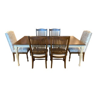 Transitional Canadel Farmhouse Dining Set - 7 Pieces For Sale