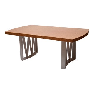 Mid-Century Cork Top Dining Table by Paul Frankl For Sale