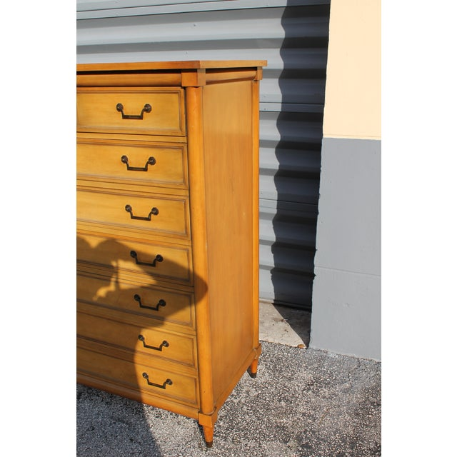 Mid-Century Italian Provincial 12 Drawer Dresser For Sale - Image 4 of 11