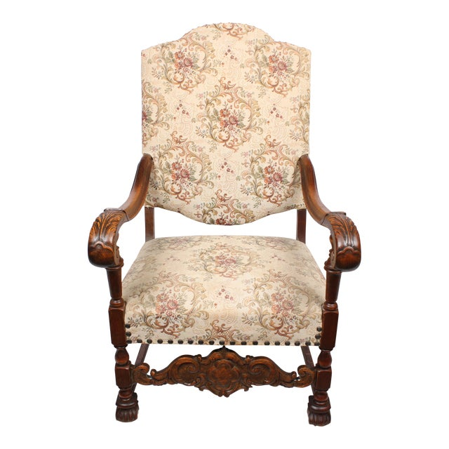 William and Mary Style Armchair For Sale