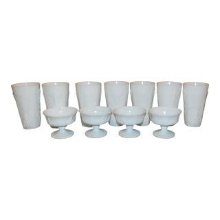 Indiana Glass Colony Harvest Grape Glasses - Set of 10 For Sale