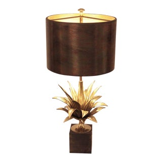 Rare Early Signed Maison Charles Agave a Gorge 2390-1 Table Lamp For Sale